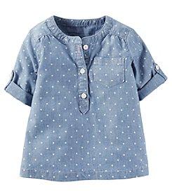 Carter's® Baby Girls' Short Sleeve Dot Top