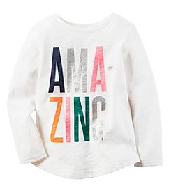 Carter's® Baby Girls' Long Sleeve Amazing Tee