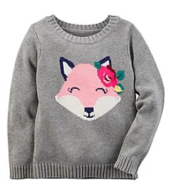 Carter's® Baby Girls' Fox Sweater