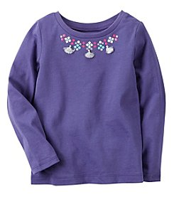 Carter's® Baby Girls' Long Sleeve Necklace Top