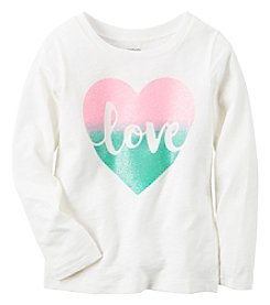 Carter's® Baby Girls' Long Sleeve Love Tee