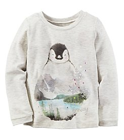 Carter's® Baby Girls' Long Sleeve Penguin Tee