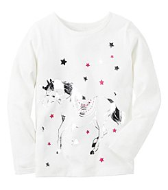 Carter's® Baby Girls' Long Sleeve Star Unicorn Tee