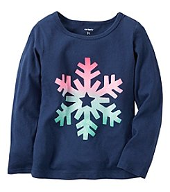 Carter's® Baby Girls' Long Sleeve Snowflake Tee