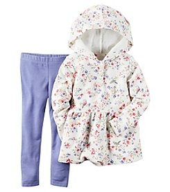 Carter's® Baby Girls' 2-Piece Floral Hoodie And Leggings Set