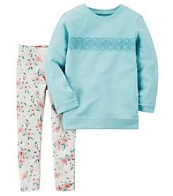 Carter's® Baby Girls' 2-Piece Lace Tee And Leggings Set