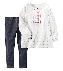 Carter's® Baby Girls' 2-Piece Geo Tunic And Jeggings Set