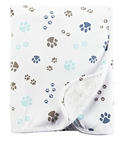 Carter's® Baby Boys' Paw Prints Plush Blanket
