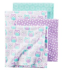 Carter's® Baby Girls' 4-Pack Owl Receiving Blankets
