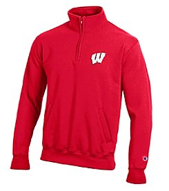 Champion® NCAA® Wisconsin Badgers Men's Team 1/4 Zip Pullover