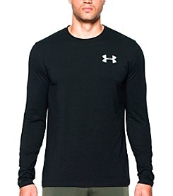 Under Armour® Men's Vertical Wordmark Long Sleeve Tee