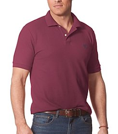 Chaps® Men's Big & Tall Short Sleeve Vintage Port Pique Polo