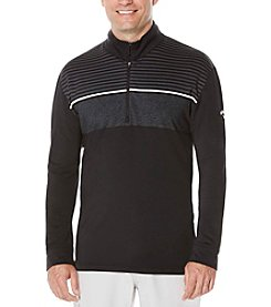 Callaway® Men's Shadow Stripe Long Sleeve Polo