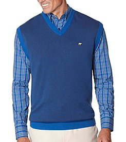 Jack Nicklaus Men's Two-Tone V-Neck Sweater Vest