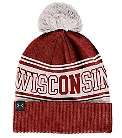 Under Armour® NCAA® Wisconsin Badgers Pom Beanie Knit Hat