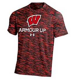 Under Armour® NCAA® Wisconsin Badgers Men's Motion Logo Tech Short Sleeve Tee