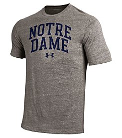 Under Armour® NCAA® Notre Dame Fighting Irish Men's Tri-Blend Short Sleeve Tee
