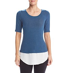 AGB® Layered Look Knit Top