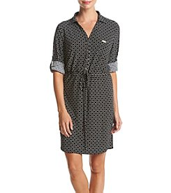 Tommy Hilfiger® Roll Sleeve Dot Shift Dress