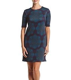 Taylor Dresses Print Scuba Sheath Dress