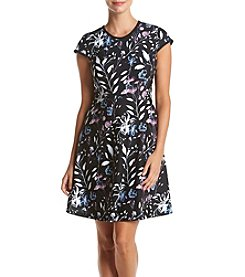 Ivanka Trump® Print Fit And Flare Dress
