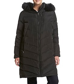 Calvin Klein Plus Size Chevron Seamed Down Jacket