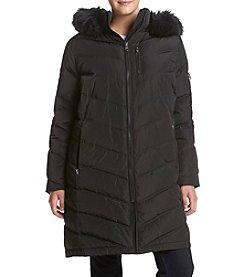 Calvin Klein Plus Size Chevron Seamed Down Jacket