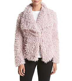 Betsey Johnson® Faux Curly Lamb Jacket