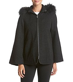 Betsey Johnson® Textured Cape Coat