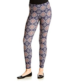 Pink Rose® Allover Printed Peached Leggings