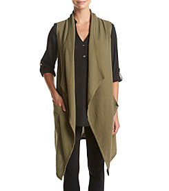 Jones New York® Drape Front Vest