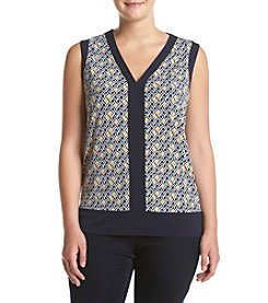Jones New York® Plus Size Reflection Print High-Low Tank