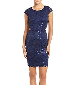 My Michelle® Sequin Lace Sheath Party Dress