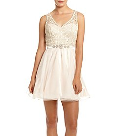My Michelle® Lace Top Chiffon Skirt Party Dress