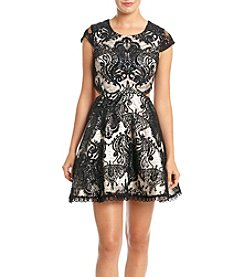 My Michelle® Sequin Lace Side Cutout Party Dress