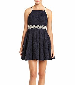 Trixxi® High Neck Soutache Party Dress