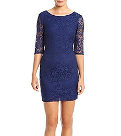 A. Byer® All Over Lace Bodycon Party Dress