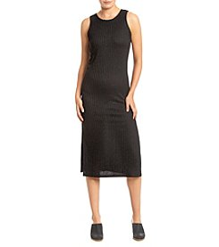 Kensie® Side Slits Ribbed Maxi Dress
