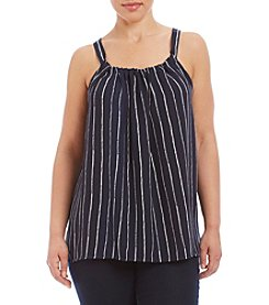 Hippie Laundry Plus Size Stripe Flowy Tank With Bow On The Back