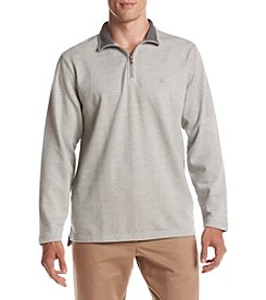 Izod® Men's Light Solid Marled Quarter Zip Pullover