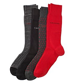 Calvin Klein Men's 4-Pack Striped Dress Socks