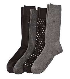 Calvin Klein Men's 4-Pack Dot Dress Socks