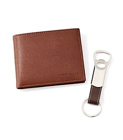 Perry Ellis Portfolio® Tan Passcase and Key Fob