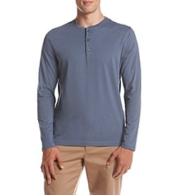 John Bartlett Consensus Men's Long Sleeve Solid Jersey Henley Tee