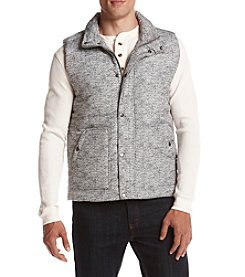 Ruff Hewn Men's Puffer Vest With Sherpa Collar