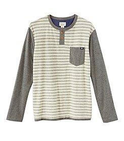 Lucky Brand® Boys' 4-7 Long Sleeve Striped Raglan Tee