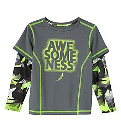 Exertek® Boys' 4-7 Long Sleeve Layered Awesomeness Graphic Tee