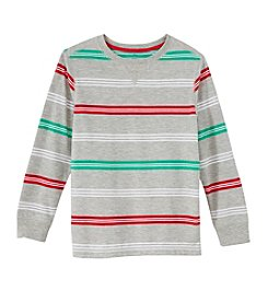 Mix & Match Boys' 2T-7 Long Sleeve Striped Tee