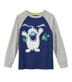 Mix & Match Boys' 2T-7 Long Sleeve Yeti Raglan Tee