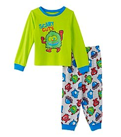 Komar Kids® Boys' 2T-4T 2-Piece Scary Cute Monster Pajama Set